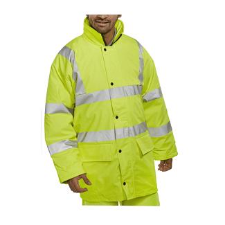 Beeswift Breathable Hi-Vis Lined Jacket | Chelford Farm Supplies