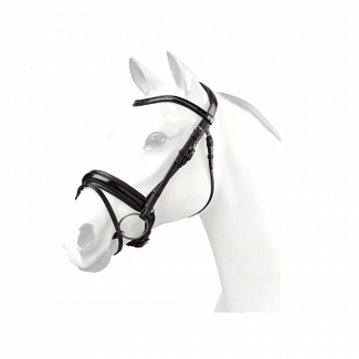 Equipe Patent Swarovski Snaffle Bridle With Reins - Chelford Farm Supplies