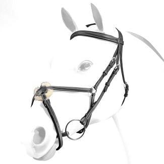 Equipe Emporio Grackle Bridle Silver Fittings - Chelford Farm Supplies