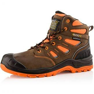 Buckler High Visibility Waterproof Safety Lace Boot BVIZ2ORBR - Chelford Farm Supplies