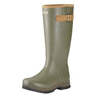 Ariat Ladies Burford Insulated Wellington Boots Olive Green