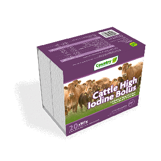 Country UF High Iodine Cattle Bolus 20 Pack