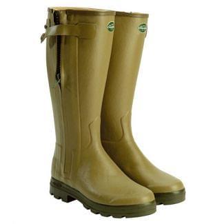 Le Chameau Ladies Chasseur Cuir Wellington Boots
