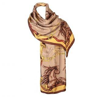 Clare Haggas Hold Your Horses Silk Scarf
