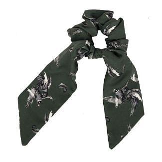 Clare Haggas Turf War Monochrome Medium Silk Scrunchie | Chelford Farm Supplies