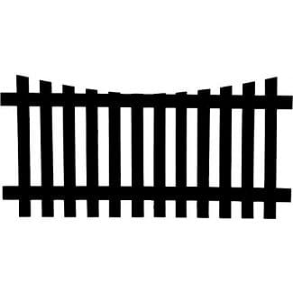 Concave Fence Panel Top
