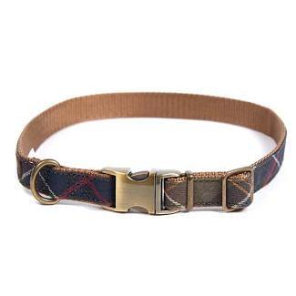 Barbour Tartan Webbing Dog Collar | Chelford Farm Supplies
