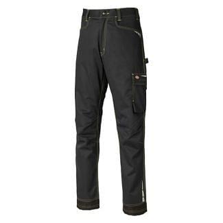 Dickies Lakemont Multi-Pocket Work Trousers Black/ Lime