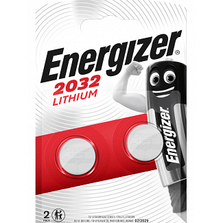 Energizer CR2032 Lithium Coin Cell Pack of 2