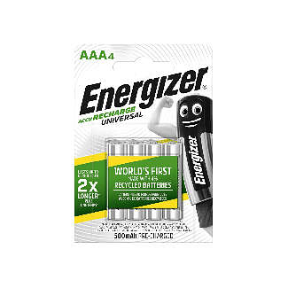 Energizer Rechargeable AAA Batteries 4 Pack | Chelford Farm Supplies