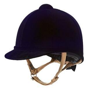 Charles Owen Junior Fian Velvet Riding Hat Navy