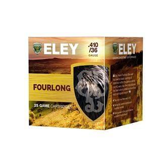 Eley Hawk Fourlong .410 36 Gauge 12.5 Gram Fibre Shotgun Cartridge