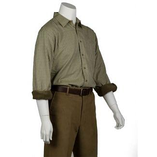 Bonart Mens Grendon Fleece Lined Shirt Beige - Cheshire, UK