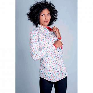 Hartwell Ladies Layla Shirt Colourful Stags