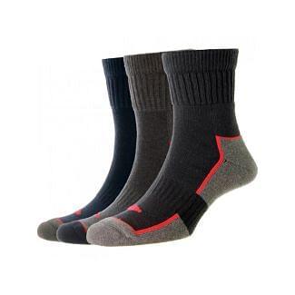 HJ Socks Mens Short Comfort Work Socks 3 Pack