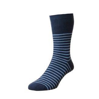 HJ Socks Mens Stripe Cotton Softop Socks | Chelford Farm Supplies