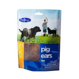 Hollings Pigs Ears Treats for Dogs Pack of 2