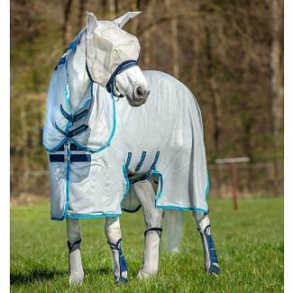 Horseware Amigo Bug Buster Fly Rug SilverElectric Blue & Navy