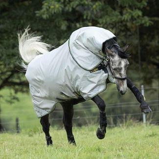 Horseware Rambo Duo Turnout Rug Bundle Grey/Teal, Gold & Navy