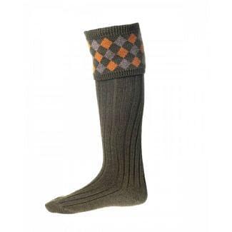 House of Cheviot Mens Chequers Bracken Socks | Chelford Farm Supplies