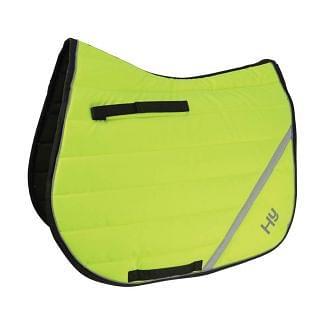 Hy Equestrian HyVIZ Reflector Comfort Saddle Pad Yellow - Chelford Farm Supplies