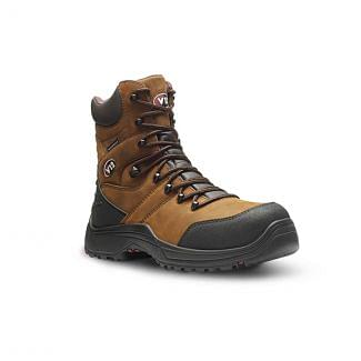 V12 Rocky IGS V1255.01 Waterproof Safety Zip-Sided Hiker Boots Brown