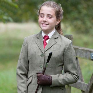 Equetech Junior Launton Tweed Jacket Green