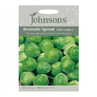Johnsons Brussels Sprouts Green Marble F1 Seeds
