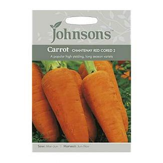 Johnsons Carrot Chantenay Red Cored 2 Seeds