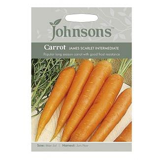 Johnsons Carrot James Scarlet Intermediate Seeds