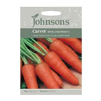 Johnsons Carrot Royal Chantenay 3 Seeds