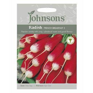 Johnsons Radish French Breakfast 3 Seeds