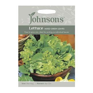Johnsons Lettuce Mixed Green Leaves Seeds