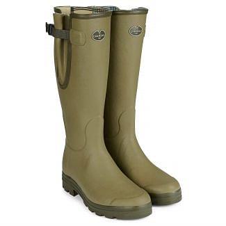 Le Chameau Mens Vierzon Jersey Lined Boots Vert Vierzon - Chelford Farm Supplies