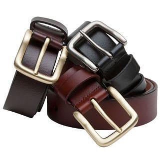 Hoggs of Fife Luxury Leather Belt Tan