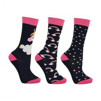 Little Rider Little Unicorn Socks 3 Pack - Childs - Chelford Farm Supplies
