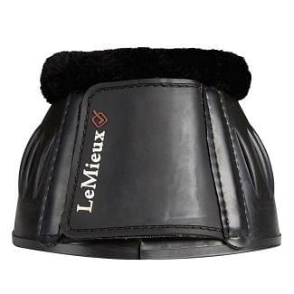LeMieux Rubber Bell Boots With Fleece Black