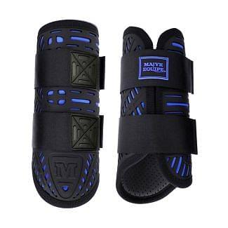 Majyk Equipe Elite XC Boots Front Azure Blue - Chelford Farm Supplies