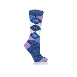 Heat Holders Ladies Malton Argyle Long Thermal Socks - Chelford Farm Supplies