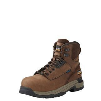 Ariat Mens Mastergrip Safety Boots Brown