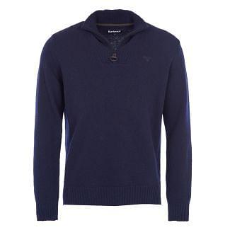 Barbour Mens Lambswool Half Zip Sweater Navy