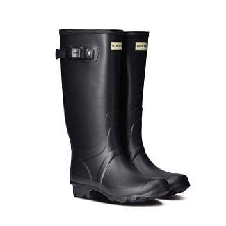 Hunter Ladies Huntress Wide Leg Wellington Boots