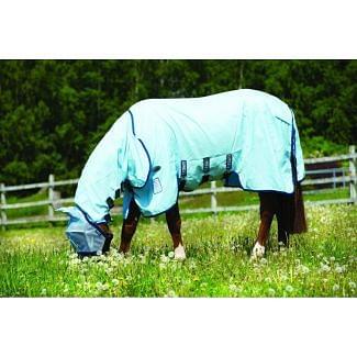 Horseware Rambo Sweetitch Hoody Vamoose Fly Rug Baby Blue / Navy