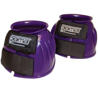 Roma Double Tape PVC Ribbed Bell Over Reach Boots Purple