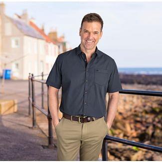 Hoggs of Fife Mens Speyside Short Sleeve Shirt