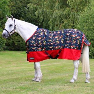 StormX Original Thelwell Turnout Rug 0g Navy/Red | Chelford Farm Supplies