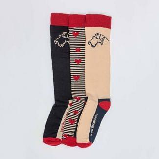 Toggi Ladies 3 Pack Terrier Knee Socks
