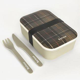 Barbour Bamboo Lunch Box & Cutlery Set | Chelford Farm Supplies