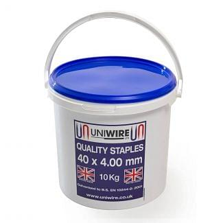 Uniwire Galvanised Barbed Fencing Staples 40mm 10kg | Chelford Farm Supplies