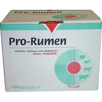 Vetoquinol Pro Rumen Oral Powder Sachets 1 x 150gm - Chelford Farm Supplies